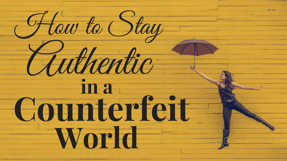 A girl with an umbrella wants to be authentic in this blog post by Jebraun Clifford