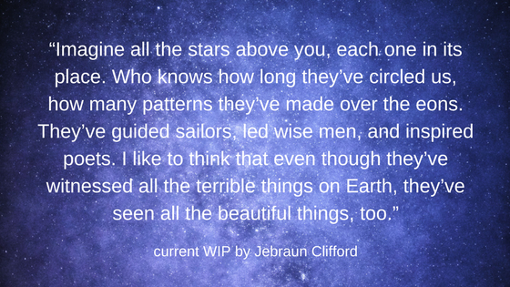 """Imagine all the stars above you, each one in its place. Who knows how long they've circled us, how many patterns they've made over the eons. They've guided sailors, led wise men, and inspired poets._ Sparrowfall.png"